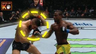 Abdul Razak Alhassan breaks down his brutal KO of Sabah Homasi | UFC 220 | REPLAY KO
