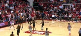 Miracle at Maples: Stanford's Daejon Davis drills game-winning half court shot as time expires to stun USC