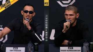 Tony Ferguson and Khabib Nurmagomedov went at it on Friday in Boston | FIGHTING WORDS