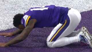 Watch Stefon Diggs' emotional reaction after his game-winning TD for the Vikings