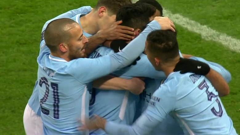 Aguero nets two quick goals for Manchester City vs. Burnley | 2017-18 FA Cup Highlights