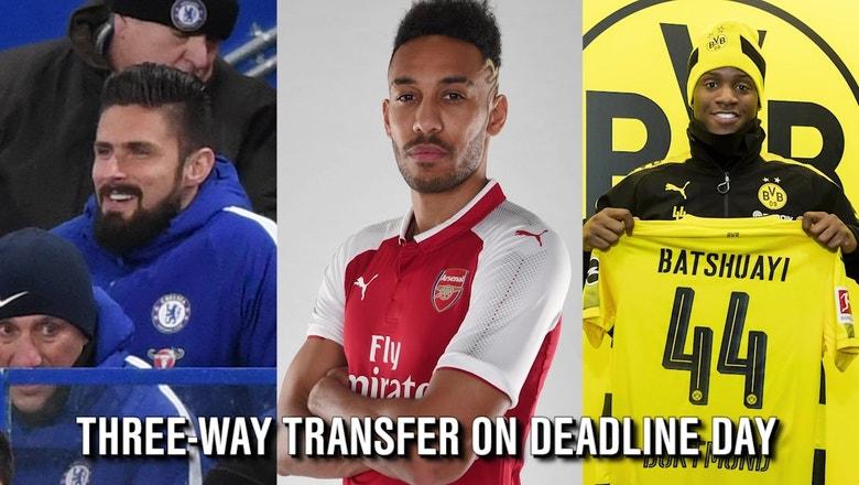 Three-way transfer deal happened on transfer deadline day
