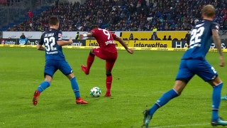 Leon Bailey scores a lovely back-heel goal for Leverkusen | 2017-18 Bundesliga Highlights