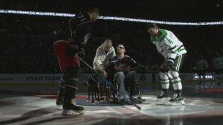Blue Jackets, Stars honor US Army veteran in ceremonial puck drop