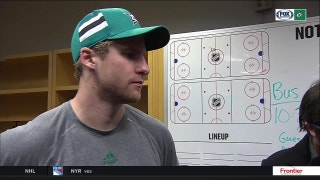 Dillon Heatherington on making his NHL debut with the Stars