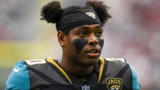 Cris Carter reacts to Jacksonville's Jalen Ramsey talking trash ahead of Jaguars at Patriots