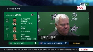 Ken Hitchcock on Stars shootout loss to the Blue Jackets