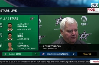 Images of Ken Hitchcock on Stars shootout loss to the Blue Jackets