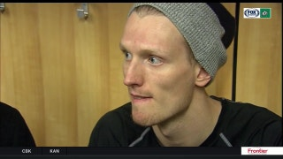 John Klingberg talks Stars dominating 7-1 win over Sabres