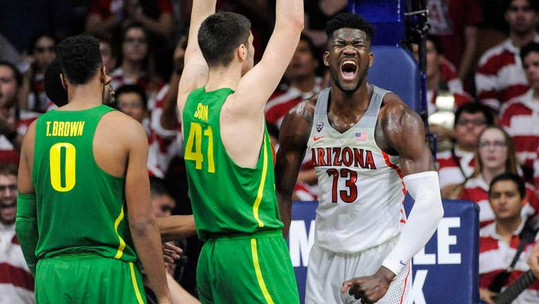 Arizona goes on late run, gets 25 from Trier and 24 from Ayton to beat Oregon