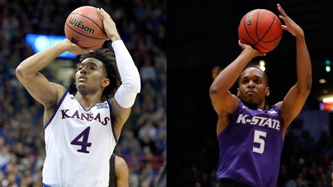 Kansas State at Kansas men's basketball summary for January  13