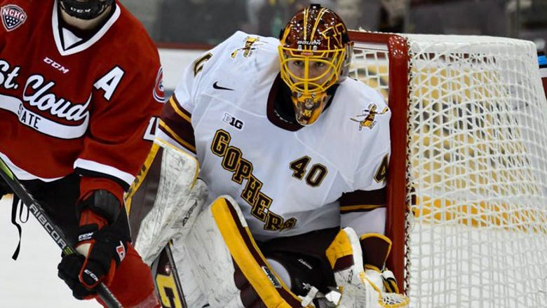 Wild sign former Gophers goaltender Robson to entry-level contract