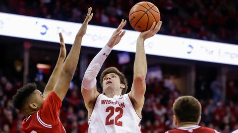 Ethan Happ, Badgers forward (↑ UP)