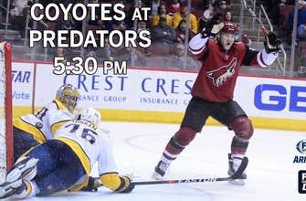 Preview: Coyotes at Predators, 5:30 p.m., FOX Sports Arizona