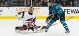 Coyotes give up tying goal with 15 seconds left, fall to Sharks in OT