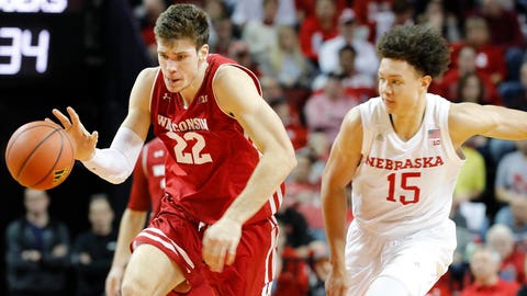 Huskers knock off Badgers, 63-59