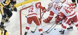 Break over, Red Wings fall at Pittsburgh 4-1