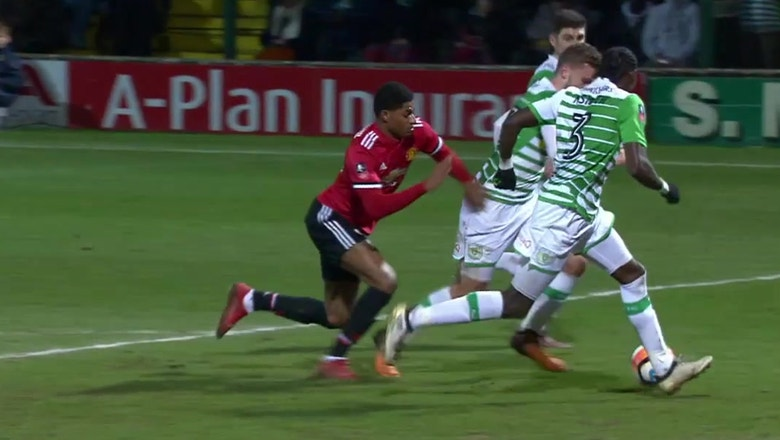 Marcus Rashford nets opening goal for Man United vs. Yeovil Town | 2017-18 FA Cup Highlights