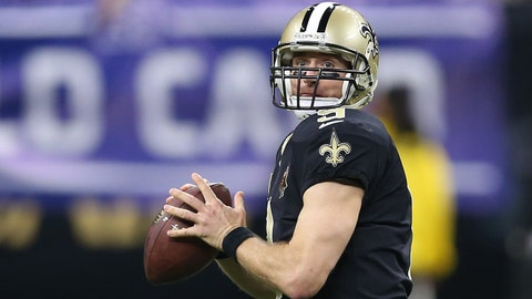Jan 7, 2018; New Orleans, LA, USA; New Orleans Saints quarterback Drew Brees (9) drops back to pass against the Carolina Panthers during the third quarter in the NFC Wild Card playoff football game at Mercedes-Benz Superdome. Mandatory Credit: Chuck Cook-USA TODAY Sports