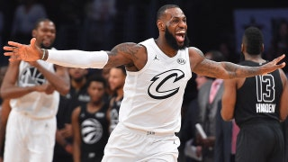 Shannon Sharpe reacts to Team LeBron defeating Team Steph in the NBA All-Star game