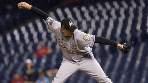 Brad Ziegler picked up 10 of his 95 career saves in 2017 his first season with the Miami Marlins.	 Bill Streicher-USA TODAY Sports