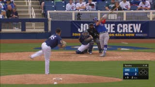 WATCH: Brewers' Ramirez closes out Cubs with 5 pitches in Cactus League