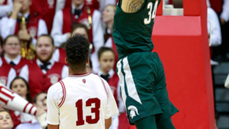 No. 5 Michigan St. beats Indiana 63-60 for 6th straight win