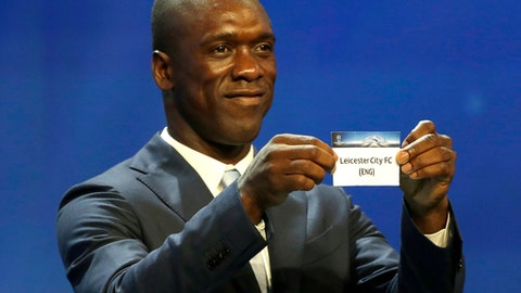 FILE - A Thursday, Aug. 25, 2016 file photo of former player Clarence Seedorf of the Netherlands during the UEFA Champions League draw at the Grimaldi Forum, in Monaco. Spanish club Deportivo La Coruna has hired former Dutch player Clarence Seedorf as its coach for the rest of the season. The 41-year-old Seedorf arrived on Monday, Feb. 5, 2018 in La Coruna to sign his contract. (AP Photo/Claude Paris, File)