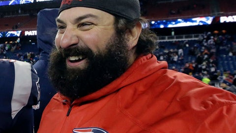 FILE - In this Jan. 13, 2018, file photo, New England Patriots defensive coordinator Matt Patricia leaves the field after an NFL divisional playoff football game against the Tennessee Titans in Foxborough, Mass. The Detroit Lions have hired Patricia as their coach. The expected hiring came a day after the Patriots lost to the Philadelphia Eagles in the Super Bowl. (AP Photo/Steven Senne, File)