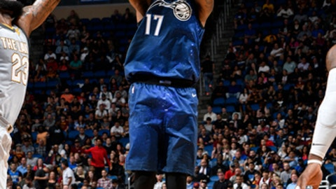 ORLANDO, FL - FEBRUARY 6: Jonathon Simmons #17 of the Orlando Magic shoots the ball against the Cleveland Cavaliers on February 6, 2018 at Amway Center in Orlando, Florida. (Photo by Fernando Medina/NBAE via Getty Images)
