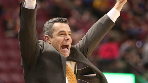 Virginia's head coach Tony Bennett reacts to the play on the court in the first half of an NCAA college basketball game against Florida State, Wednesday, Feb. 7, 2018, in Tallahassee, Fla. Virginia won 59-55. (AP Photo/Steve Cannon)