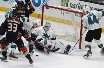 Sharks rally for 3-2 shootout win over Ducks
