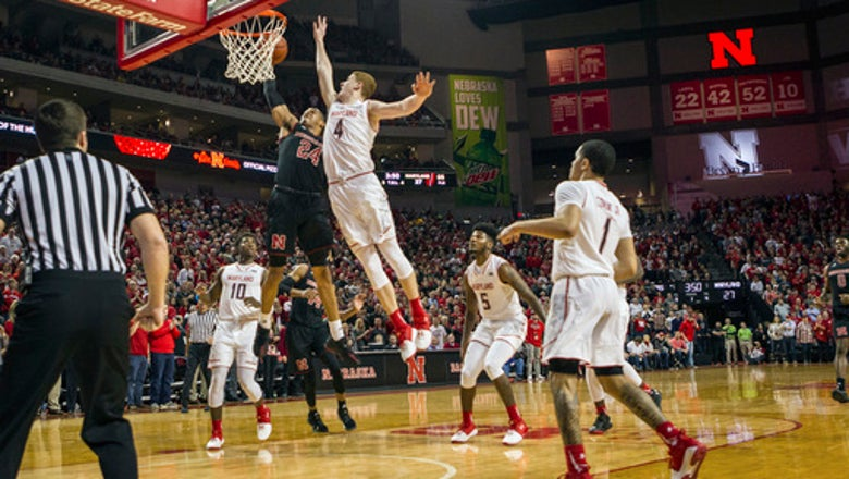 Palmer's big 2nd half lifts Huskers past Maryland 70-66