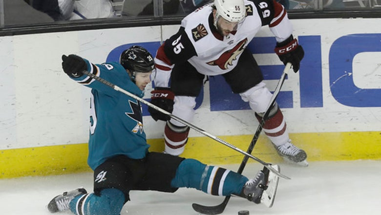 Goligoski stays hot as Coyotes top Sharks, 2-1