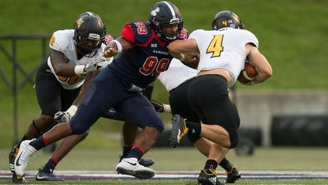 <p>(STATS) - Samford announced its 11-game 2018 schedule on Wednesday. The Bulldogs hope to end it with a Southern Conference championship.</p><p>Coach Chris Hatcher's squad is coming off an 8-4 season in which it earned an at-large bid to the FCS playoffs.</p><p>Samford will host five games, beginning with Shorter on Aug. 30. The Bulldogs also will be home for SoCon opponents Mercer (Sept. 15), Western Carolina (Oct. 6), VMI (Oct. 13) and Wofford (Nov. 3).</p><p>The road highlights include visits to Florida State (Sept. 8) and Kennesaw State (Sept. 29). Samford beat Kennesaw in the regular season last year, but was eliminated in the playoffs by the Big South champ.</p><p>The Bulldogs return last year's SoCon offensive player of the year (quarterback Devlin Hodges) and defensive player of the year (defensive end Ahmad Gooden).</p><p>2018 Samford schedule</p><p>Aug. 30, Shorter</p><p>Sept. 8, at Florida State</p><p>Sept. 15, Mercer*</p><p>Sept. 22, at Chattanooga*</p><p>Sept. 29, at Kennesaw State</p><p>Oct. 6, Western Carolina*</p><p>Oct. 13, VMI*</p><p>Oct. 20, at Furman*</p><p>Nov. 3, Wofford*</p><p>Nov. 10, at The Citadel*</p><p>Nov. 17, at ETSU*</p><p>* - Southern Conference game</p>