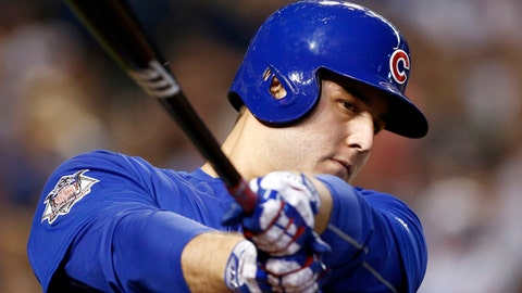 FILE - In this Aug .13, 2017, file photo, Chicago Cubs' Anthony Rizzo waits to bat against the Arizona Diamondbacks during the seventh inning of a baseball game in Phoenix. Rizzo is departing spring training for his home in Parkland, Fla., to offer support in the wake of a deadly shooting at his former high school.  (AP Photo/Ross D. Franklin, File)