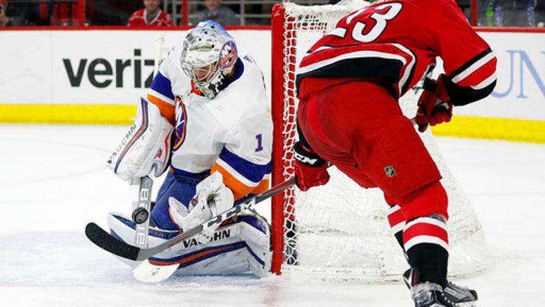 Greiss stops 44 shots, Islanders beat Hurricanes 3-0