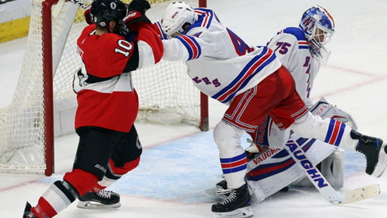 Brassard has goal, 2 assists to lead Sens past Rangers 6-3