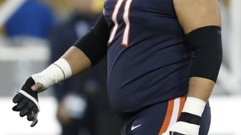 Chicago Bears' Josh Sitton is seen before an NFL football game against the Green Bay Packers Thursday, Sept. 28, 2017, in Green Bay, Wis. (AP Photo/Matt Ludtke)