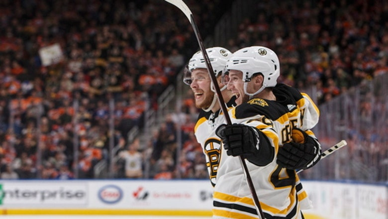 Krejci snaps tie late in 3rd, Bruins rally past Oilers 3-2