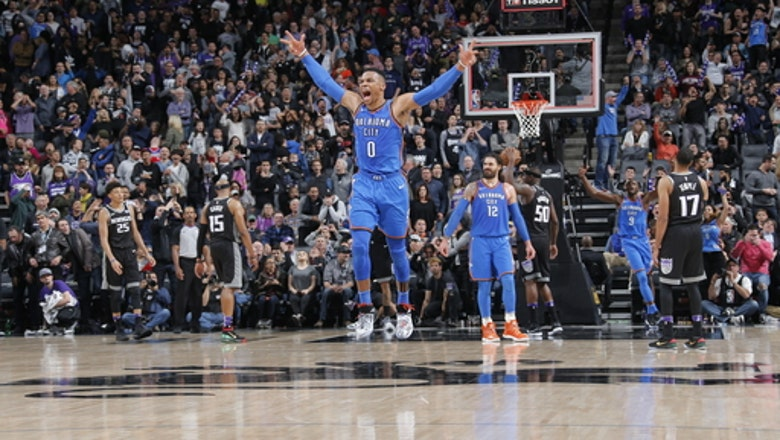 Westbrook's 3-pointer at buzzer lifts Thunder past Kings