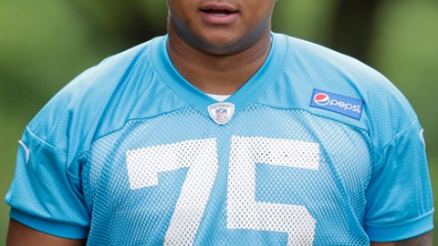 Carolina Panthers&#039 Jonathan Martin arrives for an NFL football organized team activity in Charlotte N.C. Monday