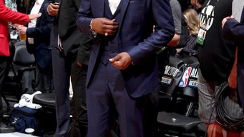 LOS ANGELES, CA - FEBRUARY 18:  John Wall #2 of the Washington Wizards during the NBA All-Star Game as a part of 2018 NBA All-Star Weekend at STAPLES Center on February 18, 2018 in Los Angeles, California. (Photo by Nathaniel S. Butler/NBAE via Getty Images)