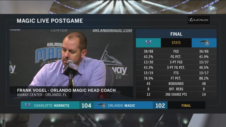 Frank Vogel after loss: They made their last 2 shots; we didn't
