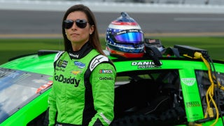Danica Patrick is nothing but relaxed as she prepares for her final NASCAR race