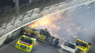 Clay Greenfield OK after vicious hit in Daytona | 2018 TRUCK SERIES | FOX NASCAR