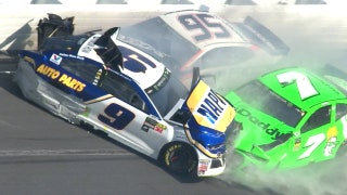 Danica Patrick's NASCAR career ends in violent crash that collects Chase Elliott as well | 2018 DAYTONA 500