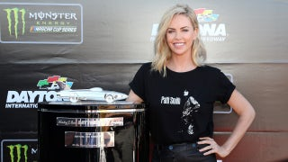 Charlize Theron ready to wave the green flag for the Daytona 500