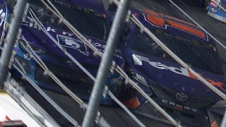 Denny Hamlin and Bubba Wallace had a heated exchange after their last-lap collision at Daytona