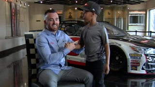 Austin Dillon reunited with young fan who gave him lucky penny